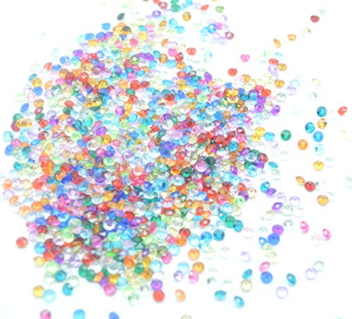 4.5 Mm Round Stones - Catotrem DIY Set Table Scatter Confetti Acrylic Diamond Stones Round Beads for Wedding, Vase Beads, Bridal Shower Decorations 4.5mm 5000Pcs(Mixed Color)