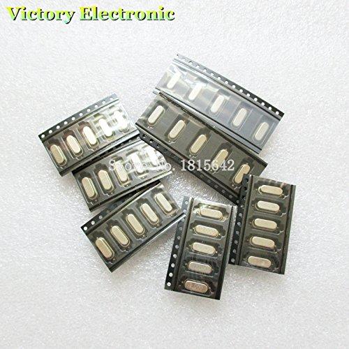 Value.Trade.Inc - 35PCS/Lot SMD Crystals 6Mhz 8Mhz 10Mhz 12Mhz 16Mhz 20Mhz 11.0592Mhz Mhz 49SMD Crystal Oscillator Kit Each 5pcs