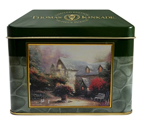 Thomas Kinkade Blessings Of Spring 100 Piece Small Puzzle with Tin Box - 100 Piece Puzzle Tin