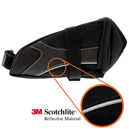 BV Bicycle Y Series Strap On Bike Saddle Bag / Bicycle Seat Pack Bag, Cycling Wedge with Multi Size Options
