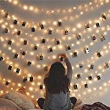 Lilone 30 Led Silver Lights USB with 10 Hearts Photo Clips for Birthday Anniversary Gifts