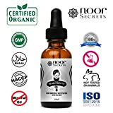 Cheap Organic Beard Oil – Natural Beard Growth Oil With Conditioner for Men – Unscented, No Fragrance – for Softer Beards and More Manliness – Manageable, Shiny and Healthy Beards Without Greasy Residue