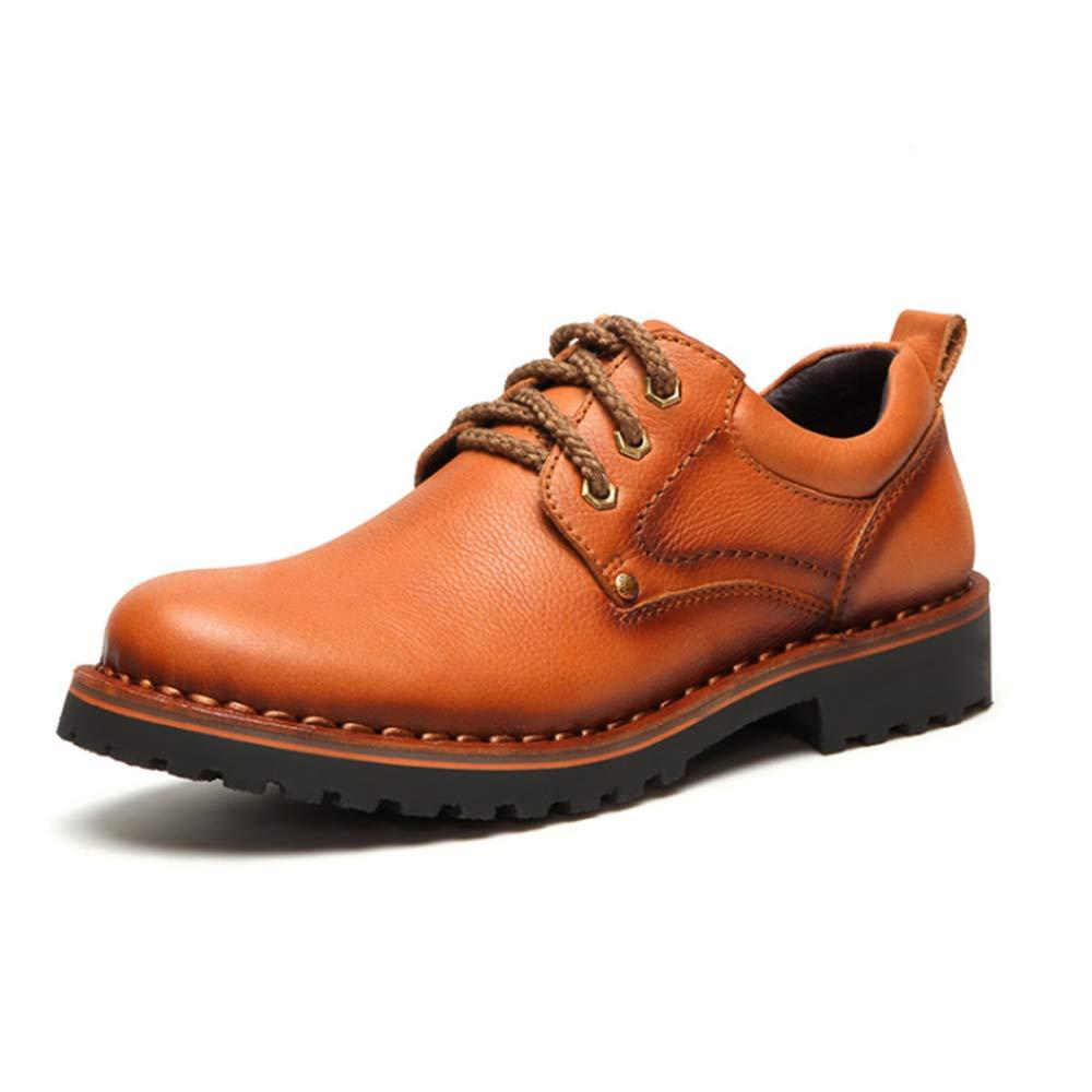 DAN Freizeitschuhe Herren Leder Flache Schuhe Mit Werkzeugschuhe Schuhe Outdoor Outdoor Stiefel