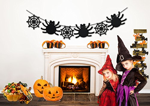 Halloween Decorations - Spider Web Banner - 8 Ft Long Halloween Party (Halloween Web Banners)