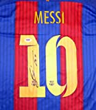 "Lionel ""Leo"" Messi Autographed Barcelona Qatar Airways Nike Authentic Jersey Size XL FIFA 2015 World Champions Patch PSA/DNA"