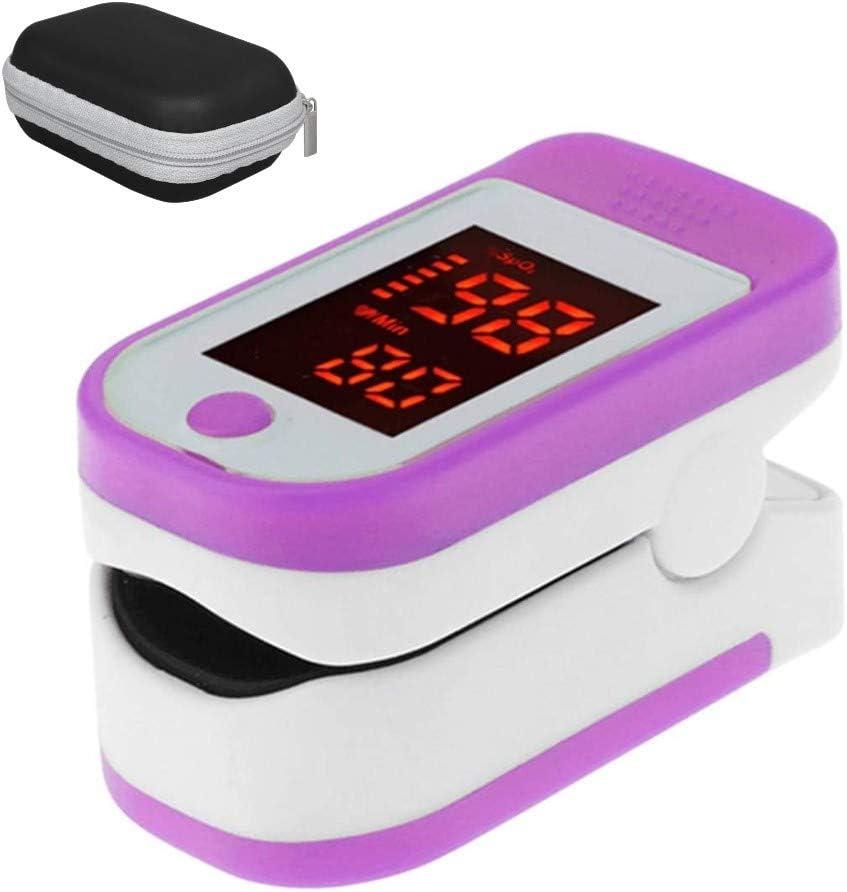 BerryChips Oxímetro Dedo Pulso con Estuche Portátil, Mini LED Batería Portátil Pulsioximetro de Dedo Profesional Monitor de Saturador Oxigeno en Sangre Lectura Rápida Alta Precisión:± 2% COLOR AL AZAR