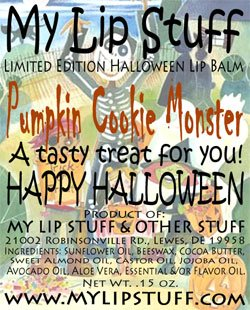 My Lip Stuff-PUMPKIN COOKIE MONSTER LIMITED EDITION HALLOWEEN LIP BALM ()
