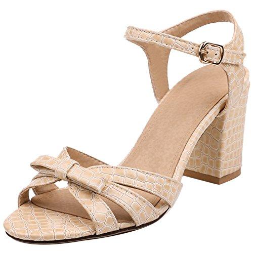 Sandales pour ouvert à bout et abricot talon femme Razamaza 1v0xq0