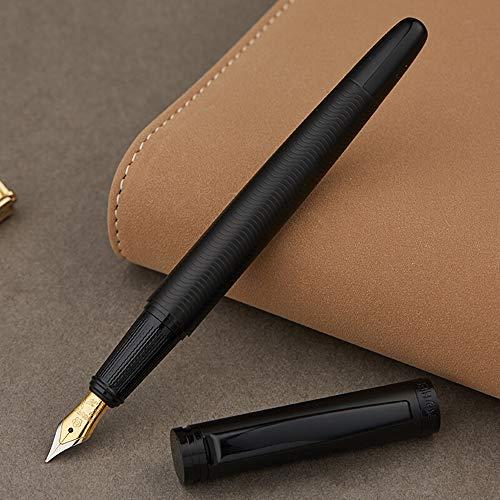 Hero Matte Black Fountain Pen, Ripple Mark Iridium Fine Nib Point with Luxury Gift Box (Best Hero Fountain Pen)