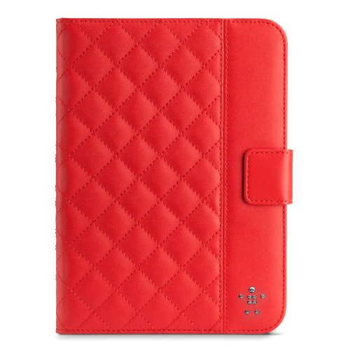 Belkin Quilted Cover with Stand for iPad mini (Ruby) -