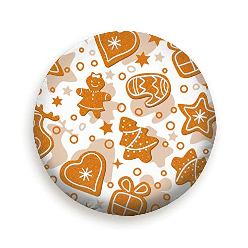 Gingerbread Christmas Man Food and Drink Tire Cover Polyester Universal Spare Wheel Tire Cover Wheel Covers for Trailer RV SUV Truck Camper Travel Trailer Accessories(14,15,16,17 Inch) 15inch]()