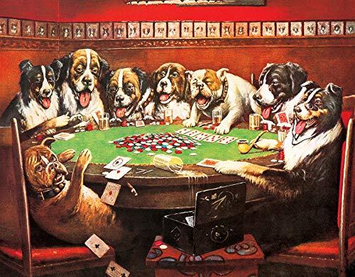 Dogs Playing Poker Metal Tin Sign ()