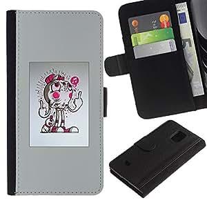 KLONGSHOP // Tirón de la caja Cartera de cuero con ranuras para tarjetas - Resumen del tirón - Samsung Galaxy S5 Mini, SM-G800 //