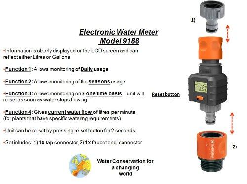 Gardena Water Timer Water Smart Flow Meter Import It All