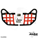 Honda TRX 450R (2004-2009) Standard Nerf Bars Black w/ Red Net
