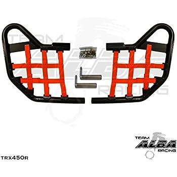 Kawasaki KFX 450R 450 Nerf Bar Nets  Fits Alba Tusk   Red     B