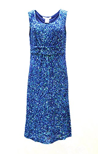 marina-rinaldi-womens-iridescent-sequined-dress-sz-12-blue-120061mm