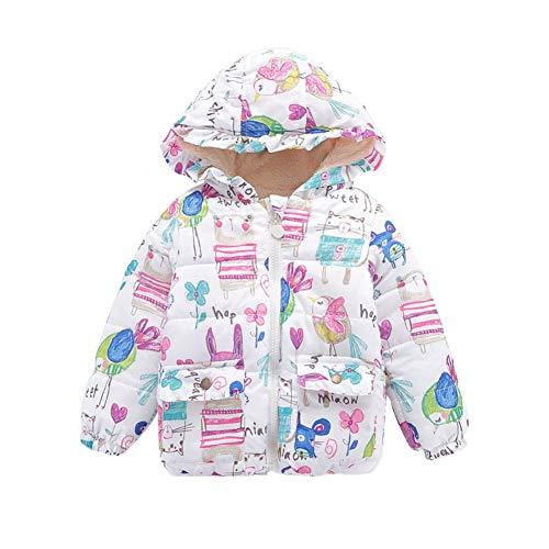 Jacket Animal Trim (Loveble Girls Coats Fleece Lined Critter Puffer Jacket Hood,Ruffle Trim,Animal Cartoon Pattern)