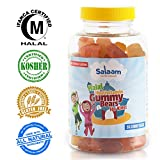 Salaam Nutritionals Children's Vegetarian Gummy Vitamins: Halal & Kosher Vitamins that are NON GMO, Gluten, Dairy, Nut Free - Provide all Natural Nutrition - Rich in Antioxidants & Vitamin A, B6, B12,