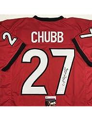 Autographed/Signed Nick Chubb Georgia Red College Football Jersey JSA COA