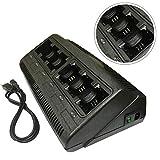 ProMaxPower 6 Ports Banks Two-Way Radio Battery Charger for Motorola NNTN4497 NNTN4970 Li-ion CP200 CP200D CP200XLS CP250 PR400