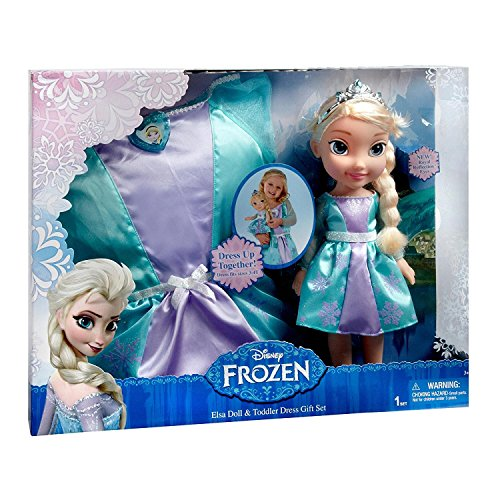 Christmas Up Dolls Dress (Disney - Frozen Elsa Doll & Dress-Up Set)
