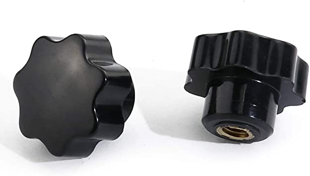 boeray 10pcs M5x25mm Screw On Type Star Head Thumb Screw Threaded Knurled Grip Knobs for Machinery Latche