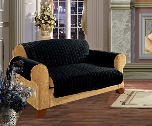 quilted-pet-dog-children-kids-furniture-protector-microfiber-slip-cover-black-sofa