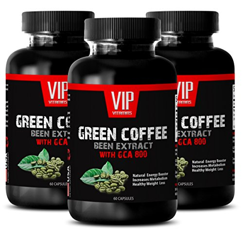 Hoodia Liquid Extract - Hoodia hoodia gordonii liquid - GREEN COFFEE BEAN EXTRACT with GCA 800 - Body fat reducer for women (3 Bottles - 180 Capsules)
