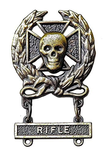 Expert Sniper Skull Badge Pin Rifle Bar Army Marksman M24 Medal Antique Insignia