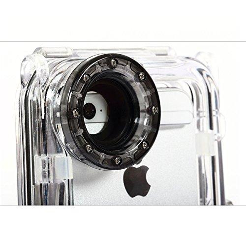 Alienwork Schutzhülle für iPhone SE/5/5S/5C Unterwasser Hülle Case Bumper Wasserdicht Staubdicht Schneedicht Plastik schwarz AP562-01