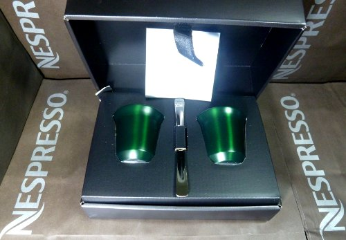 Nespresso Special Gift Set 2 Pixie Espresso Capriccio Cups & Stirrers , In Brand Box , New by Nespresso