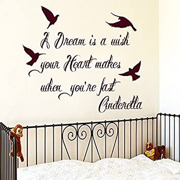 Amazon Girl Wall Decal Cinderella Quotes A Dream Is A Wish Your Cool Cinderella Quotes