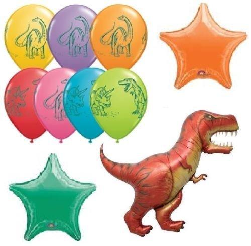 LoonBalloon Dinosaur Dino T-REX Tyrannosaurus (10) Birthday Party Mylar & Latex Balloons Set by LoonBalloon