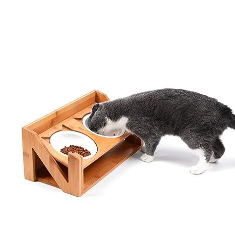L&XY Alimentador De Mascotas Elevado para Perros Y Gatos, Biselado El Soporte Elevado para Tazón