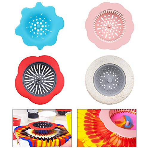- URlighting Acrylic Pouring Strainers (4 Pieces) - Plastic Silicone Flow Painting Tools Kits for DIY Pouring Acrylic Paint and Drawing Unique Patterns and Designs, Artwork Supplies