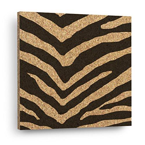 ZEBRA STRIPE - Mix & Match Cork Decor Art Tiles Or Kitchen Trivet - Wall (Zebra Trivet)