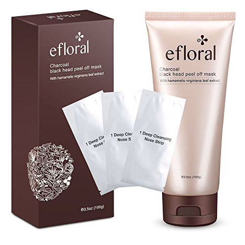 Efloral Characoal Black Purifying Peel Off Face Mask With Hamamelis Virginiana Leaf Extract For Blackheads Acne - Men And Women Common
