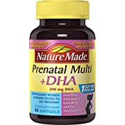 Nature Made Prenatal + DHA 200 mg Multivitamin Softgels 60 Ct