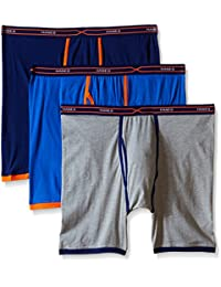 Hanes Men's 3-Pack X-Temp Active Cool Long Leg Boxer Brief