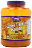 NOW Sports Dutch Chocolate Whey Protein Isolate, 5-Pound