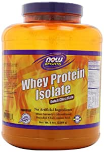 NOW Foods Whey Protein Isolate, Dutch Chocolate, 5-Pound Jar