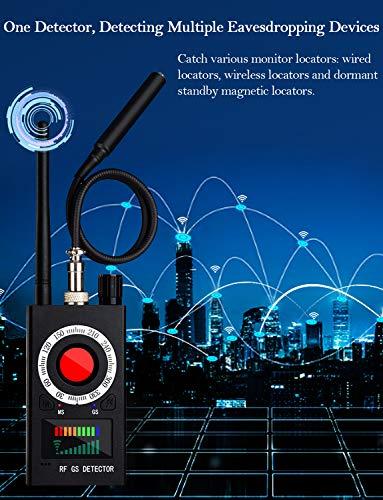 Anti Spy Detector, RF Detector, Camera Finder, Bug Detector, RF Signal Detector, Wireless Audio Bug Hidden Camera Detector Laser Lens GSM Finder Listening Device Finder Wireless Signal Alarm Audio Spy
