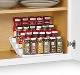 YouCopia Spicesteps 4-Tier Kitchen Cabinet Spice Shelf Organizer, 24-Bottle, White
