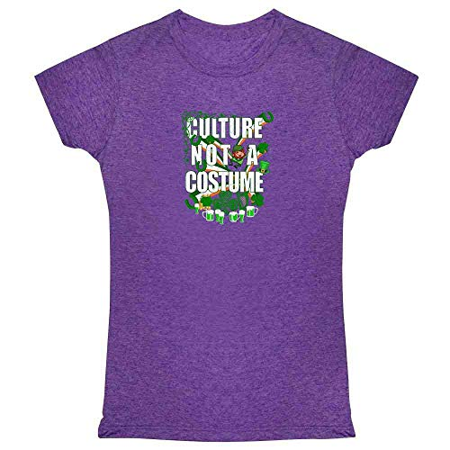 Culture Not A Costume St Patrick's Day Heather Purple M Womens Tee ()