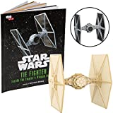Star Wars Tie Fighter Book and 3D Wood Model Kit - Build, Paint and Collect Your Own Wooden Model - Great For Kids and Adults, 12+ - 4.5''