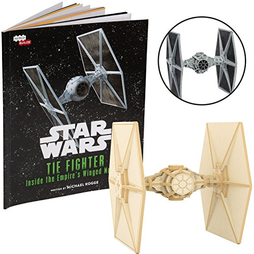 - Star Wars Tie Fighter Book and 3D Wood Model Kit - Build, Paint and Collect Your Own Wooden Model - Great for Kids and Adults, 12+ - 4.5