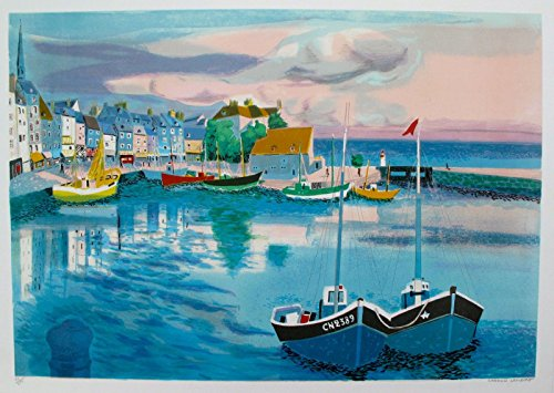 Wall Art by Georges Lambert Honfleur Limited Edition Hand Signed Lithograph Print. After the Original Painting or Drawing. Paper 21 Inches X -