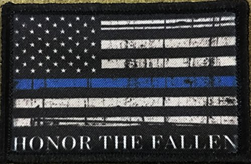 Thin Blue Line Honor The Fallen Morale Patch. Perfect for your Tactical Military Army Gear, Backpack, Operator Baseball Cap, Plate Carrier or Vest. 2x3