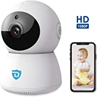 WiFi Home Security Camera | with 2 Way Audio | Indoor | Baby Monitor | 1080P Full HD Camera with Night Vision | Pan Tilt 360° Camera | Android…